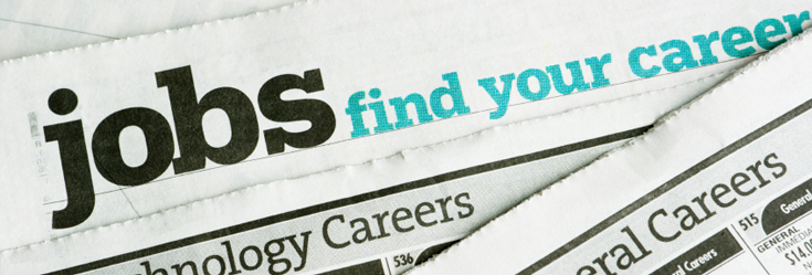 Photo of various jobs newspapers