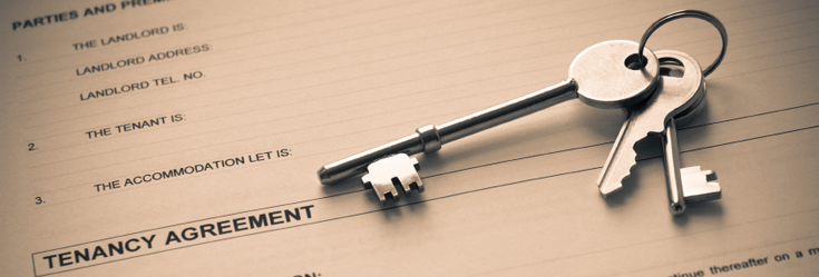 Photo of keys and Tenancy Agreement