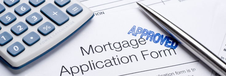Photo of a mortgage application form